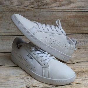 Womens White PUMA Tennis Shoes, Sz 8.5